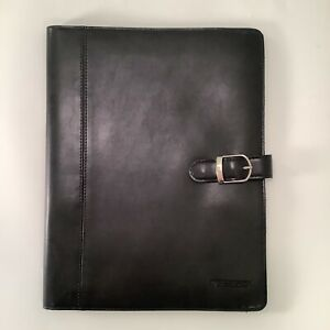 At a glance Portfolio Black Padfolio Leather Vintage Office Desk Compendium