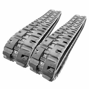 2 Hiqual Rubber Tracks For Bobcat T590 T595 T190 T180 Cat 239 Gehl Rt165
