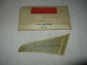 Nos Mopar 1978 Plymouth Volare Road Runner Super Pak Decal