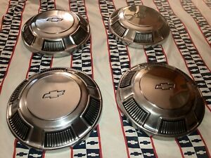 Nos Gm 68 69 70 Bel Air Biscayne Impala Poverty Dog Dish Hub Caps Hubcaps 396 Ss