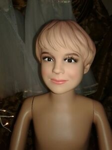 Realistic Maniquin 6 10 Year Old Child Boy Mannequin With Face And Molded Hair