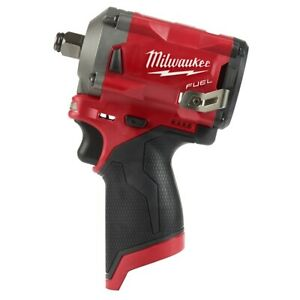 Milwaukee 2555 20 M12 Fuel Stubby 1 2 Impact Wrench Kit With Brushless Motor