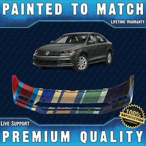 New Painted To Match Front Bumper Cover Fascia For 2015 2018 Volkswagen Jetta