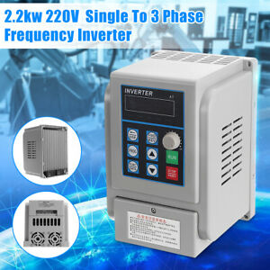 2 2kw 3hp 10a Cnc 220v Variable Frequency Drive Inverter Single To Three Phase