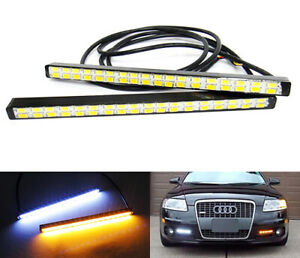 2x Samsung 36 Smd Led Universal For Audi Drl Fog Driving Light White Amber