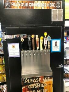 Motor City Growler Fill Station Ultimate Mancave Kegerator 8 Taps On Casters