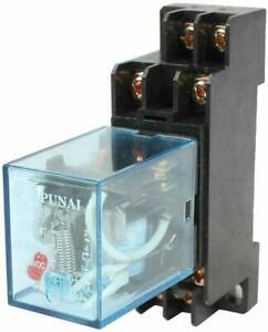 Plastic Coil Dpdt Black Clear Blue110 120v Ac 8 Terminals Electromagnetic Relay