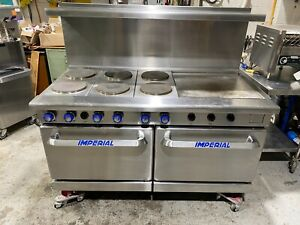Imperial Elec Double Oven 6 Burner W 24 Griddle Model Ir 6 g24t e
