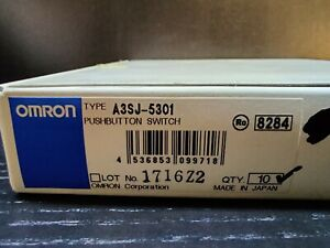 Lot Of 44 Omron A3sj 8010 A3sj 8020 A3sj 5301 Pilot Lighted Pushbutton Switches