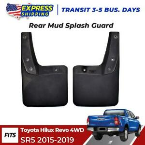 Rear Splash Guard Rubber Mud Flaps Fits Toyota Hilux Revo 4wd Sr5 Truck 2015 19
