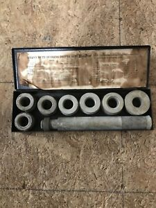Vintage Snap On Blue Point A 158 Heavy Duty Bushing Driver Set 1 7 16 1 7 8