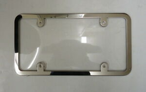 Clear License Plate Cover Shield With Stainless Steel Frame