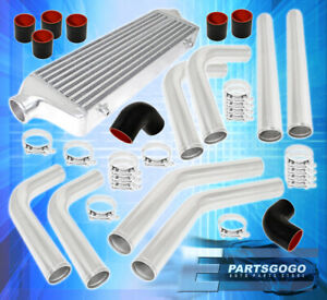 Universal 2 5 Polished Aluminum Intercooler Piping Kit Coupler Tbolt Clamps