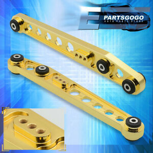 For 96 2000 Honda Civic Lx Dx Ex Suspension Rear Lower Control Arm Rod Gold 24k