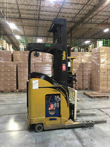 Yale Nr040 Used Electric Stand Up Reach Forklift