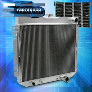 For 67 69 Ford Mustang Torino Ltd L6 V8 Tri Core 3 Row Aluminum Racing Radiator