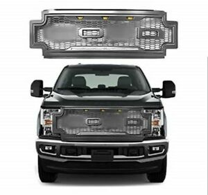 17 19 Ford F250 F350 F450 Super Duty New Raptor Style Front Bumper Grille Abs