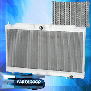 For 95 99 Eclipse Gst Gsx Spyder 2 0l M t Dual Core 2 row Race Aluminum Radiator