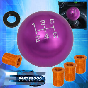 For Toyota 12x1 25mm 5 Speed Ball Shift Shifter Knob Threaded Selector Purple