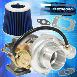T3 T4 V band Oil Cooled Turbo Charge Jdm High Performance Flow Air Filter Blue