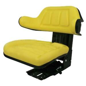 Yellow Universal Tractor Suspension Seat Fits John Deere 820 830 1020 1030 1040