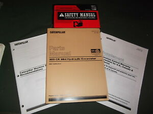 Cat Caterpillar 303 cr Mini Excavator Parts Manual Book Set S n Dma00001 up