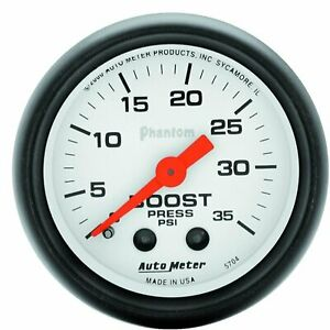Auto Meter 5704 Phantom Mechanical Boost Gauge