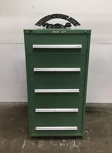 5 drawer Stanley Vidmar Industrial Storage Cabinet W Drawer Latch
