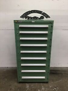 9 drawer Stanley Vidmar Industrial Storage Cabinet W Latches