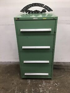 4 drawer Stanley Vidmar Industrial Storage Cabinet W Latches