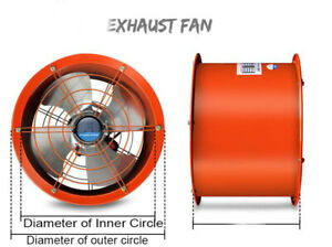220v 16inch Explosion proof Axial Fan Cylinder Pipe Fan 370w 5400m3 h Tool