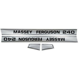 Mf 240 Mf240 Tractor Basic Hood Decal Set For Massey ferguson