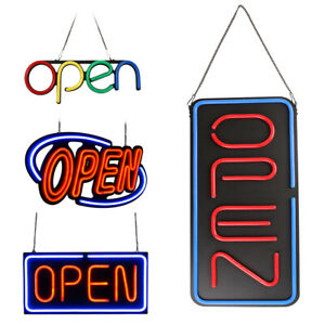 Premium Ultra Bright Led Neon Business Open Sign Board Light For Bar Store Shop