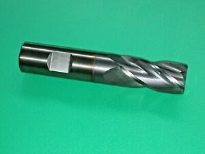3 4 Solid Carbide End Mill 4 Flute 1 1 2 Loc 4 Oal Ticn Coated Rtw 96488 New