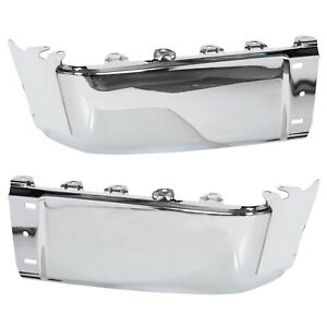 Pair Rear Bumper End Cap For 07 13 Chevy Silverado 1500 Gmc Sierra 2500 Hd