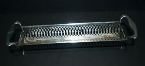 Antique Sterling Silver Sugar Cube Cracker Tray Rack