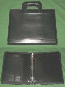 8 5x11 1 25 Black Leather Day Runner Planner Binder Franklin Covey Monarch 32