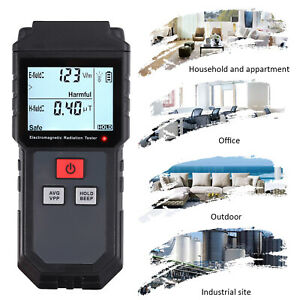 Emf Electromagnetic Field Radiation Detector Meter Lcd W Anti Radiation Shield