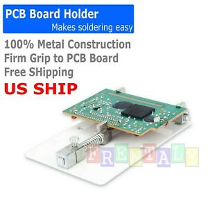 Pcb Circuit Board Holder Soldering Platform Universal Adjustable Repair Clamp