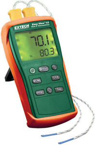 Extech Ea10 Easyview Dual Input K Thermometer 200 To 1999 f