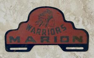 Marion Warriors Kansas License Plate Tag Topper Original