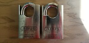 Two Abus 83cs 55 Padlocks W Assa Abloy Protec2 Cores Four Keys
