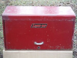Vintage Snap on Tools 6 Drawer Flip Open 26 Tool Box Chest Red Steel