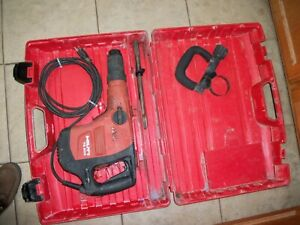 Hilti Te 500 Hammer Drill Kit Wit Case Side Handle And One Bit Runs Strong