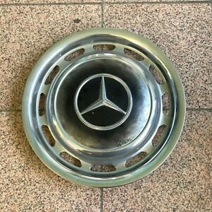 Genuine 1970 1980 Mercedes Benz 14 Wheel Cover Hub Cap W Mounting Clips 1