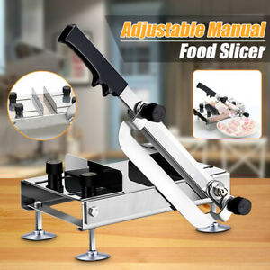 Adjustable Manual Frozen Food Meat Slicer Beef Mutton Cleavers Kitchen Cutter
