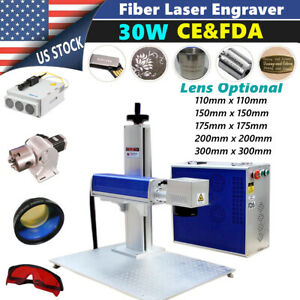 30w Split Fiber Laser Marking Engraver Engraving Equipment Rotary Axis Include