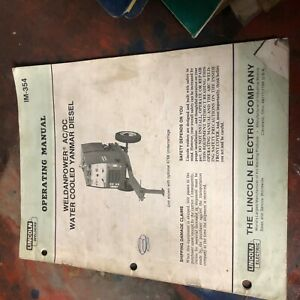 Lincoln Welder Idealarc Weldanpower Ac Dc Diesel Model Operation Manual