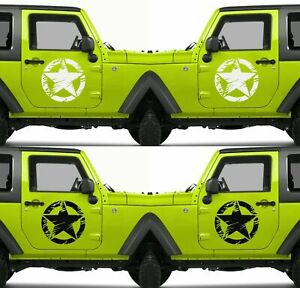 Set Of 2 American Us Army Usa Armed Forces Military Star Vinyl Decal Sticker V20