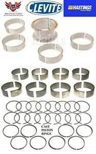Chevy Chevrolet 327 350 68 95 Clevite Rod Main Bearings Hasting Piston Rings